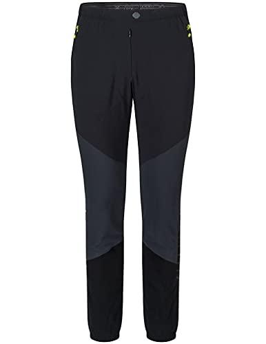 MONTURA Inox Pants Hombre MPLK01X 9270F Color Antracita Amarillo Fluo Pantalones largos técnicos ideales para senderismo, alpinismo, esquí, alpinismo y escalada, Negro , L