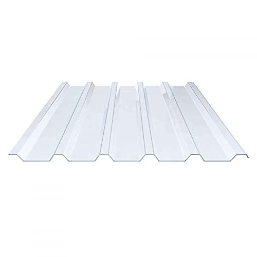 Lichtplatte | Spundwandplatte | Profil 207/35 | Material PVC | Breite 1070 mm | Stärke 1,5 mm | Farbe Klarbläulich