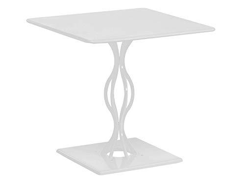 Vera Emu Table cm. 76 x 76 blanc matt
