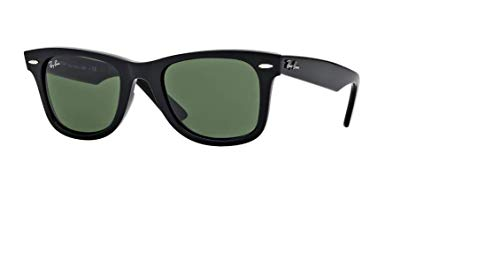 Ray-Ban RB2132 New Wayfarer Classic - Gafas de sol unisex (marco negro/verde G-15 Lens 901, 58)