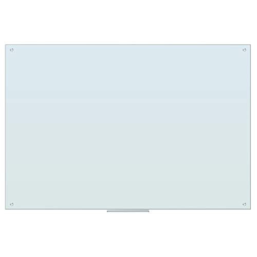 U Brands Glass Dry Erase Board, 70 x 47 Inches, White Frosted Non-Magnetic Surface, Frameless -  2796U00-01