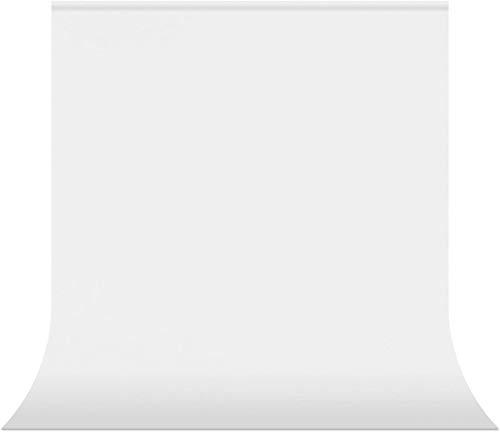 Aokeou 6,5 x 10 ft Fotografie Hintergrund, grüner Chromakey Musselin Hintergrund Bildschirm für Fotografie, Video und Fernsehen - Sofabezug, Bettdecke (White)