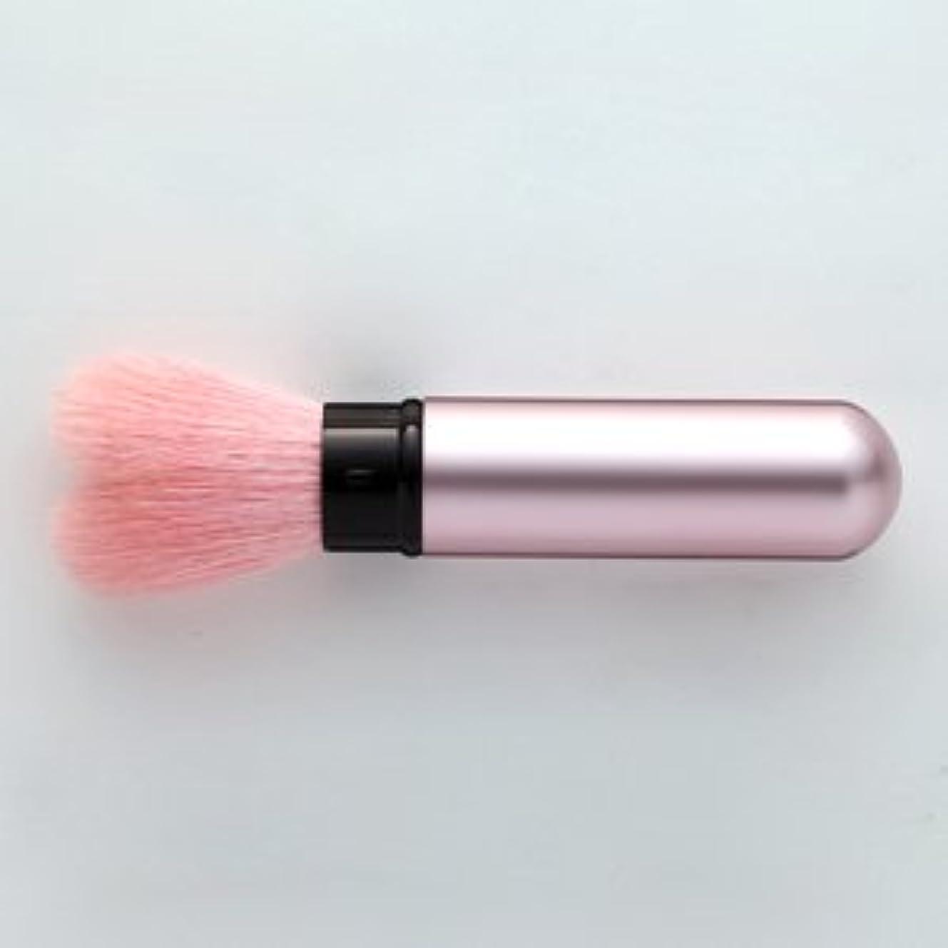 聴く歌プロポーショナル熊野筆 携帯タイプのハート型 チークブラシ モバイルハート (ピンク)