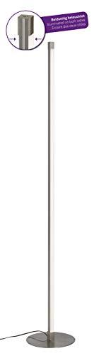 Briloner Leuchten 1375-012 LED Stehleuchte, 2-flammige Stehlampe, stufenlos dimmbar, 1800 Lumen, Metall, 17.3 W, matt nickel