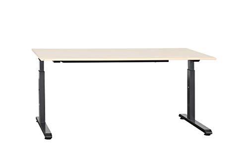 Sedus Büromöbel Schreibtisch Bürotisch ModellinTemptation Cin Mit Schiebeplatte In Ahorn Und C-Fuß-Gestell Geprüft Und Gebraucht, 62-84x160x80cm (Generalüberholt)