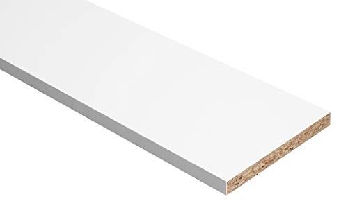 Tablero de aglomerado de melamina, color blanco
