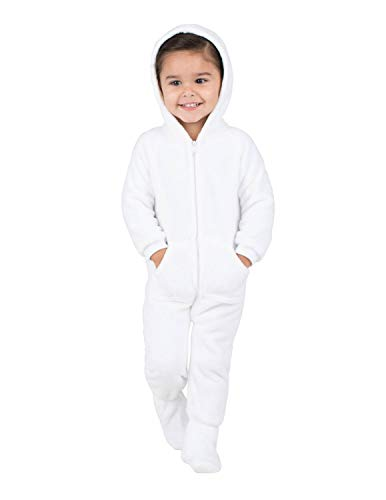 Footed Pajamas - in The Clouds Infant Hoodie Chenille Onesie - Infant - XLarge (Fits 12-18mos.) White