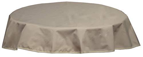 beo Table d'extérieur Plafond imperméable, Rond, diamètre 120 cm, Beige