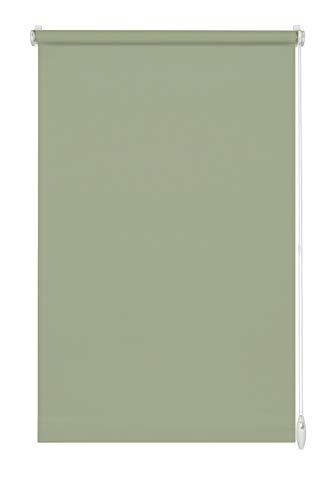 GARDINIA Rollo zum Klemmen oder Kleben, Tageslicht-Rollo, Blickdicht, Alle Montage-Teile inklusive, EASYFIX Rollo Uni, Mintgrün, 75 x 150 cm (BxH)
