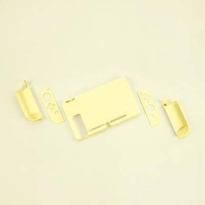 Xpccj Carcasa rígida para Nintendo Switch, color rosa y amarillo