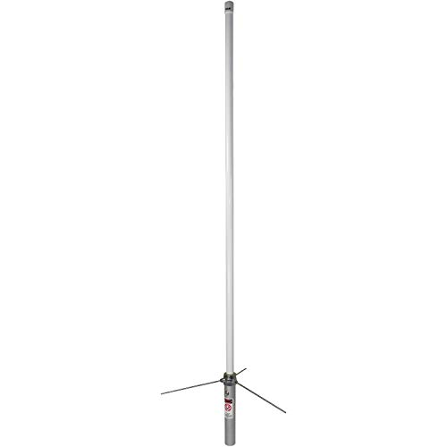 Tram(r) 1477 Pre-Tuned 144mhz-148mhz Vhf/430mhz-460mhz Uhf Amateur Dual-Band Base Antenna (White Fiberglass) 44.00in. x