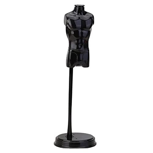 WFZ17 Soporte de muñeca negro, tienda pequeño compacto lindo muñeca traje de baño ropa rack, accesorios de tocador negro