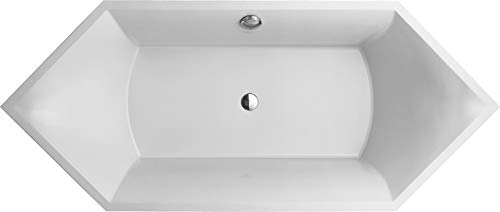 Villeroy & Boch Badewanne Rechteck Squaro 1900 x 800 weiß (alpin), UBQ190SQR6V-01