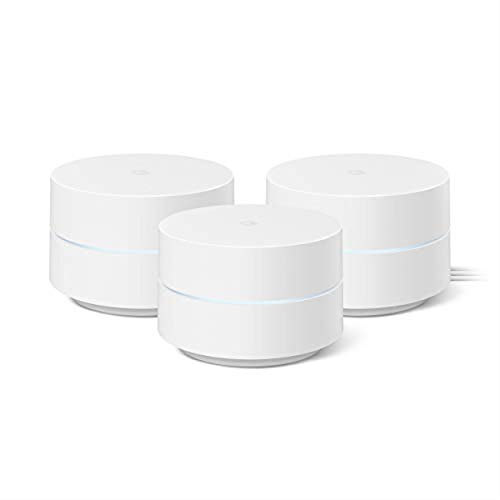 Google Wifi - AC1200 - Mesh WiFi System - Wifi Router - 4500 Sq Ft Coverage- 3 pack