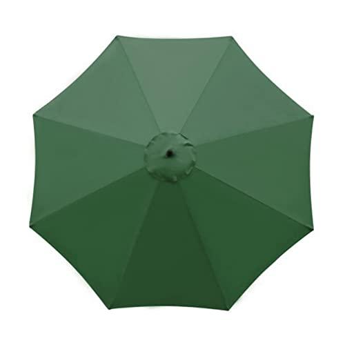 YEVYG Playa Paraguas Reemplazo Canopy Garden Patio Paraguas Anti-UV Poliéster Paño Parasol Plage sin Estructura Mental (Color : Green, Size : 2.7M)