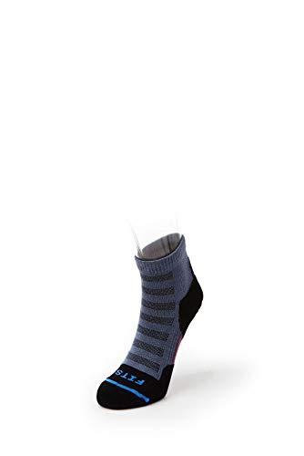 FITS Micro Light Runner – Quarter: Outdoor Cross Country Trail Running Socks -  Blue -  Medium
