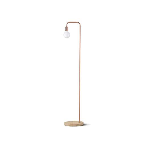 FORWIN Stehleuchte- Nordischen Stil Einfache Moderne Schmiedeeisen Stehlampe Schlafzimmer Wohnzimmer Stehlampe Stehlampe Innenbeleuchtung (Farbe : A Red copper)