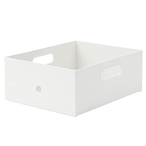 無印良品 ポリプロピレンファイルボックススタンダード・幅25cmタイプ・1/2 約奥行32×高さ12cmホワイトグレー 02553067
