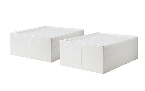 Ikea Unterbettkommode mit Reißverschluss, Weiß, 2 Stück