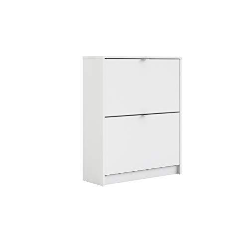 Tvilum Bright 2 Drawer Shoe Cabinet, White