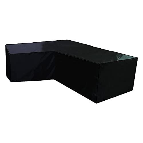 Z-DJJ Fundas para Muebles de jardín 210D, Funda de sofá en Forma de L, Funda Protectora Impermeable a Prueba de Polvo a Prueba de Viento para Muebles de Exterior, Juegos de sofás de Esquina