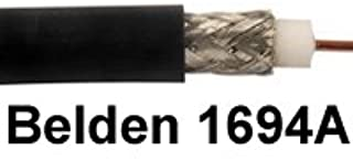Belden 1694A CM Rated RG6 Digital Coaxial Cable 500Ft Black-by Belden