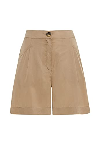 HALLHUBER Shorts aus Tencel™ weit geschnitten Camel, 34
