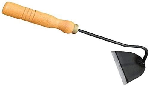 LJM Hoe Mini Herramienta portátil de Acero para aflojar el Suelo con Mango de Madera Herramienta de jardín para jardinería escarda excavación Uso doméstico