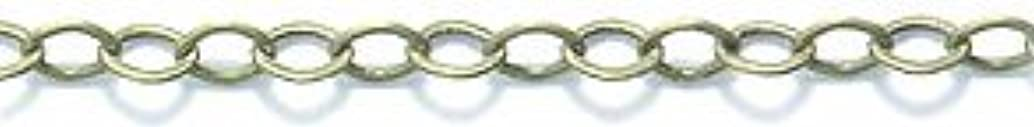 Shipwreck Beads Electroplated Brass Cable Chain, 2 by 3mm, Metallic, Antique Brass, 6-Feet, Unfinished jdgakehl86953