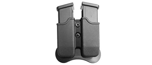 CYTAC Magazine Pouch Double, Polymer, Fits Glock 17,19,22,23,26,27,31,32,33,34,35,37,38,39 Sig Pro P2022