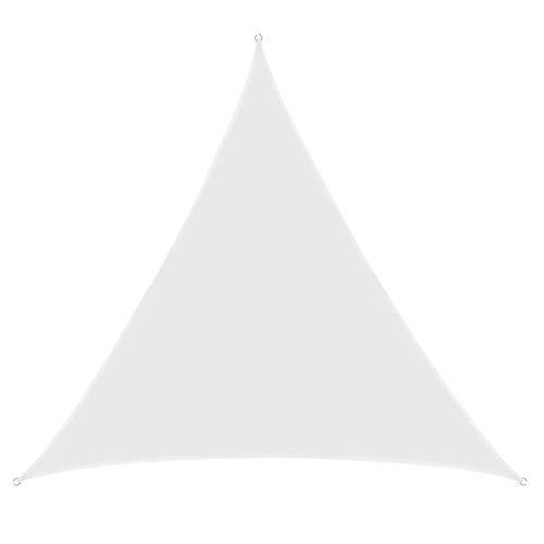 Myan - Toldo triangular resistente a los rayos UV, 3 x 3 m, color blanco, Blanco, 3x3x3m