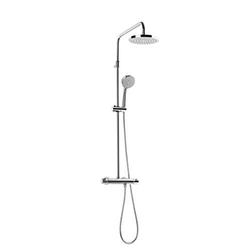 Roca Columna de ducha termostática telescópica modelo Victoria T-Plus, 59,5 x 25,4...