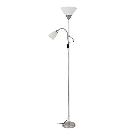 Lampadaires Lampadaire moderne debout Lampes for plancher Bureau Salon Chambre lampe 70' avec Grand Side Light Reading Stand Up Lumière Floorlamp torchère (Color : Silver-9.44 * 8.66 * 70.07inchs)