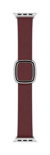 Apple Watch (40mm) Modernes Lederarmband, Granat - Medium