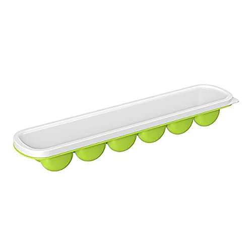 PWE-4 Packs of 12-Cavity Ice Mold Flexible Silicone Ice Tray Reusable Ice Maker for Whisky Bourbon Cocktail,Verde