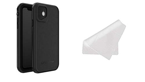 Lifeproof FRĒ Series Waterproof Case for iPhone 11 Pro (ONLY) with Cleaning Cloth - Retail Packaging - Asphalt (Black/Dark Grey)