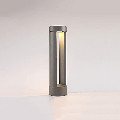 Tira Impermeable al aire libre Pilar Accesorio de iluminación Cubierta de metal Lámpara de poste a prueba de lluvia Base de montaje en muelle LED Lámpara de columna IP54 Linterna de piso externa Porch