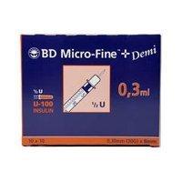 BD MicroFine 0.3ml Insulinspritzen U100 Demi, einen Artikel
