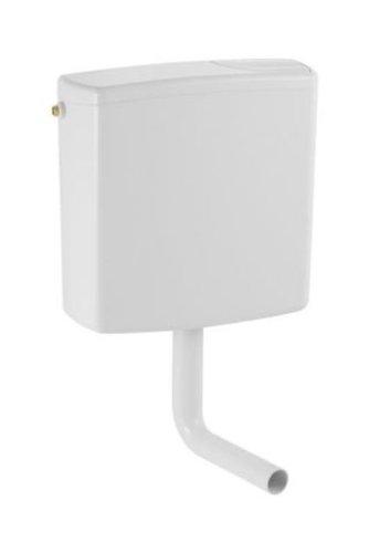 Geberit Aufputz Spülkasten AP140 für 2-Mengen-Spülung, Toilettenspülung tief hängend, mit flexiblem Wasseranschluss, geräuscharm, weiß, Art.Nr. 140300111