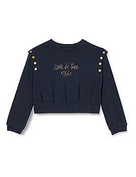 IKKS Junior Sweat-Shirt Marine écriture, Navy foncé, 8 Ans Fille