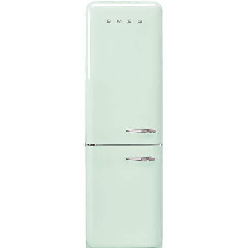 Smeg FAB32LPG3 - Frigorifero Combinato Anni  50, Verde pastello, 331 Lt, 60 cm, Cerniere a Sinistra, A+++