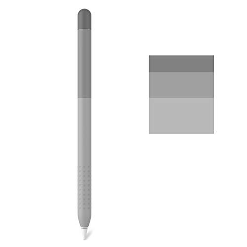 Delidigi Farbverlauf Hulle Silikon Case Schutzhulle Griff Zubehor Kompatibel mit Apple Pencil 1Generation Grau