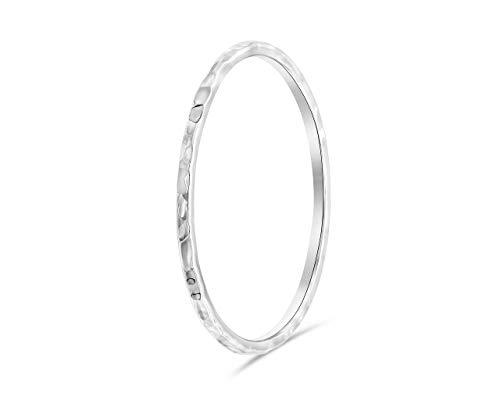 Bague femme minimaliste 925 Sterling, bague réglable, mince   bague phalange, bague empilable   bijoux femme