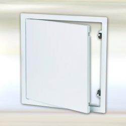 Domodul ® Revisionsklappe Revisionstür Stahl, weiß Schnappverschluss - Druckverschluss, Einbaumaß Breite x Höhe:300 x 300 mm
