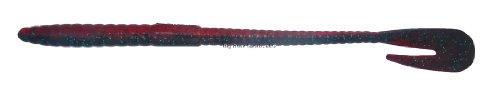 Bass Assassin RW58316: Rail Worm 7 Red Shad/Green Glitter