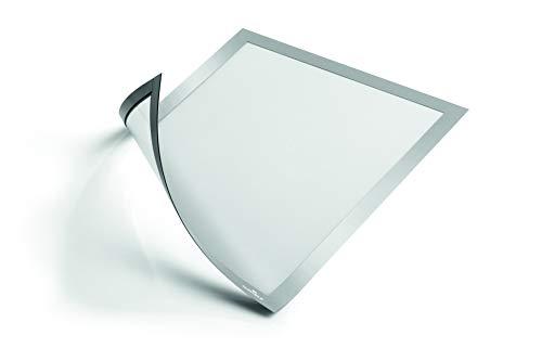 Durable 486923 Info-Rahmen Duraframe Magnetic (A4 Magnetrahmen für metallische Oberflächen) 5 Stück silber