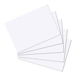 300 Karteikarten in A6 weiß blanko von Herlitz [Sparpaket]