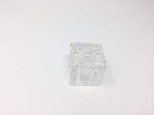 Verre de rechange 5 x 5 x 5 cm cube pour culot G4 trou 10 mm transparent cube en verre
