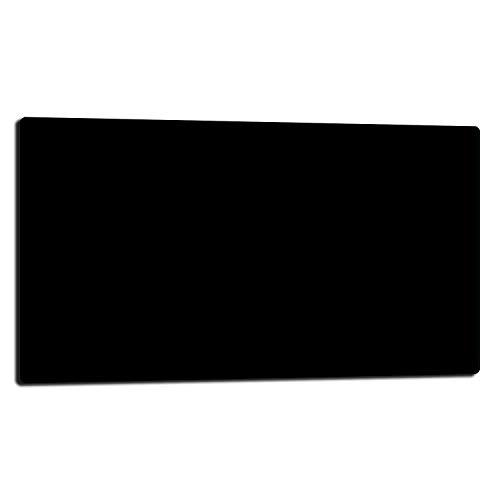 TMK - Placa protectora de vitrocerámica 80 x 52 cm 1 pieza cocina eléctrica universal para inducción, protección contra salpicaduras tabla de cortar de vidrio templado como decoración, color negro