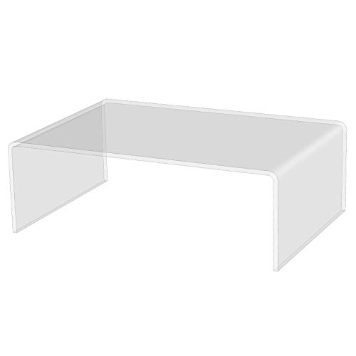 3R W Design Acrylic Display Shelves- Clear Display Plastic Perspex Stands Risers Plinths (4mm-thick-30cm-20cm-10cm)